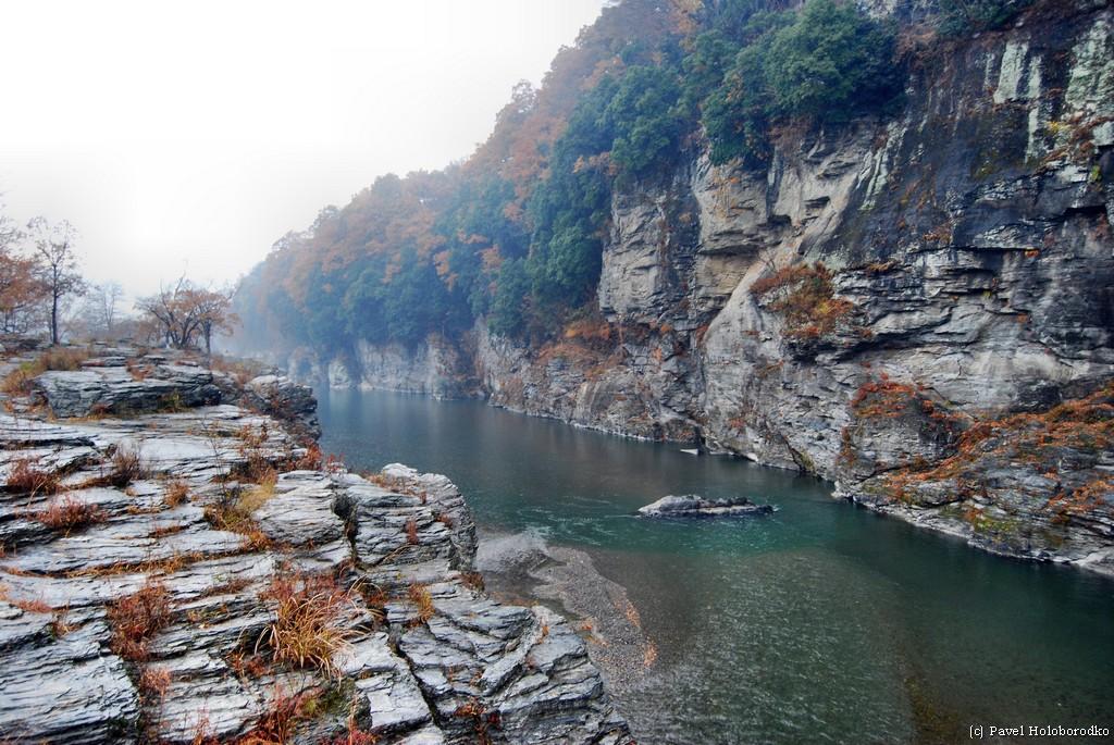 Layered Rock Cliffs